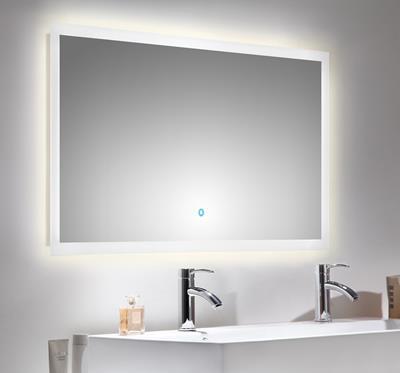 spiegel touch led 120 x 65 cm. Black Bedroom Furniture Sets. Home Design Ideas