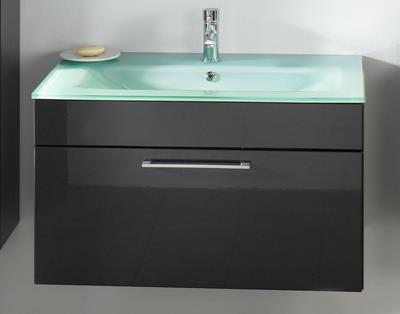 posseik badmeubel heron groen glas 90 cm antraciet. Black Bedroom Furniture Sets. Home Design Ideas