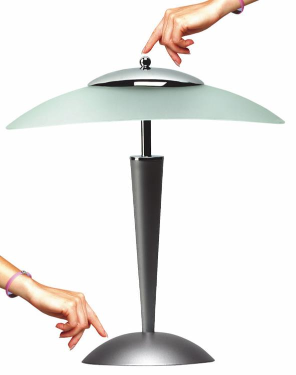 Cristal fluorescentie lamp grijs for Lampen 500 lux