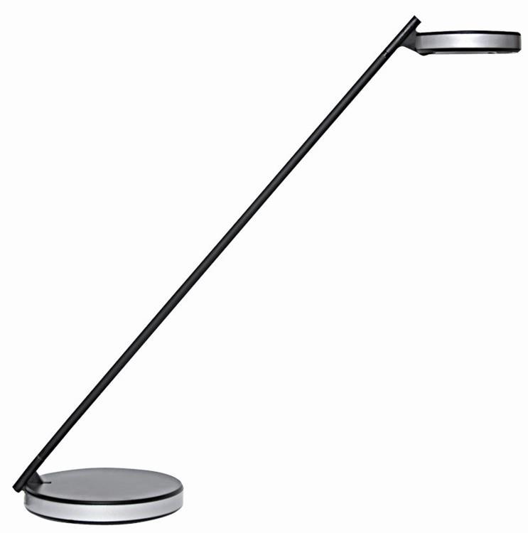 Disc led lamp zwart grijs for Lampen 500 lux
