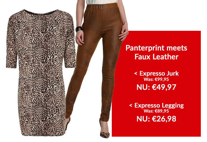 Expresso Outfit: Panter meets faux leather