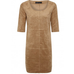 Expresso suede dress