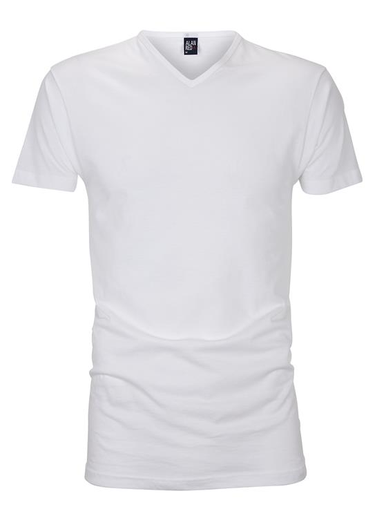 Wit basic T-shirt Alan Red shop je bij Derksen Mode