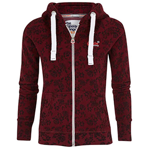 Superdry Sweat vest rood