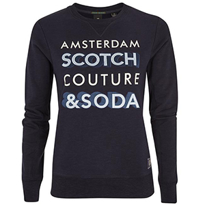 Scotch Soda amsterdams blauw sweat