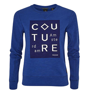 Couture amsterdams blauw scotch soda sweater