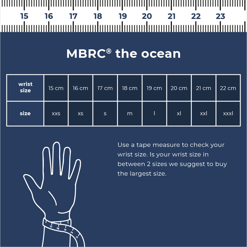 MBRC Humpback Robust bracelet in maritime look rope bracelet made from 100/% recycled plastic