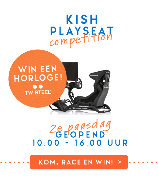 Win een TW-STEEL horloge met de Kish Playseat Competition