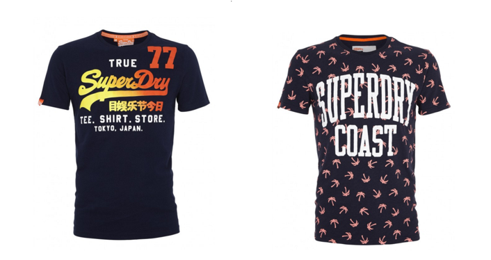 Superdry shirts neon