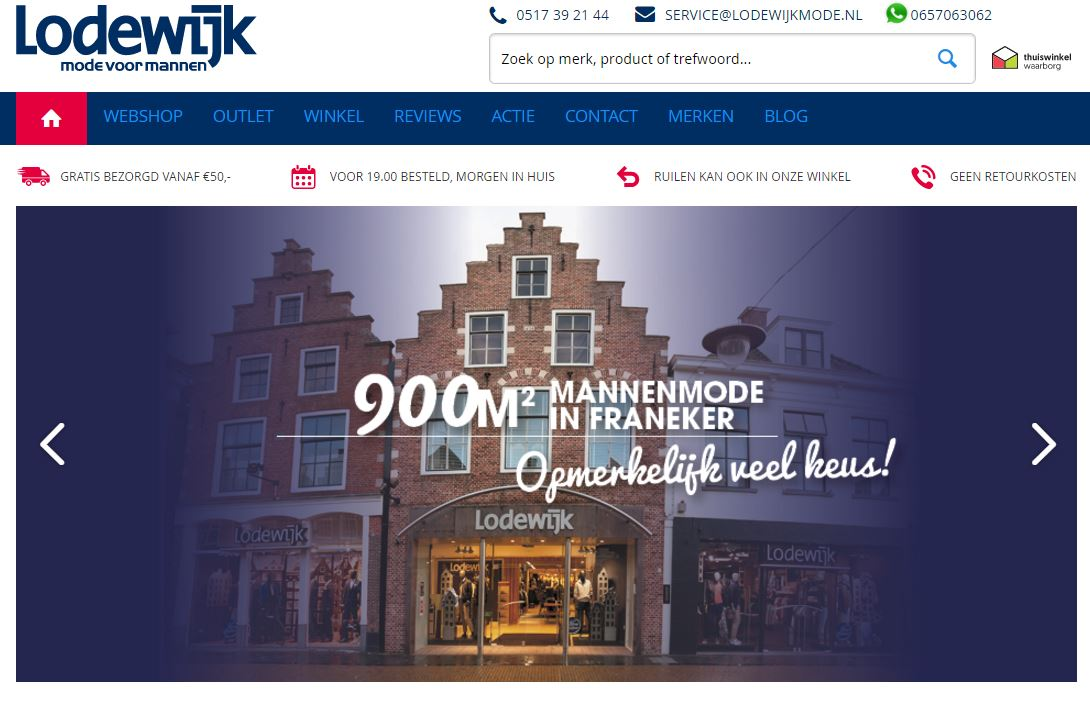 Website Lodewijkmode