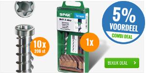 COMBI DEAL: SPAX-D RVS vlonderschroeven