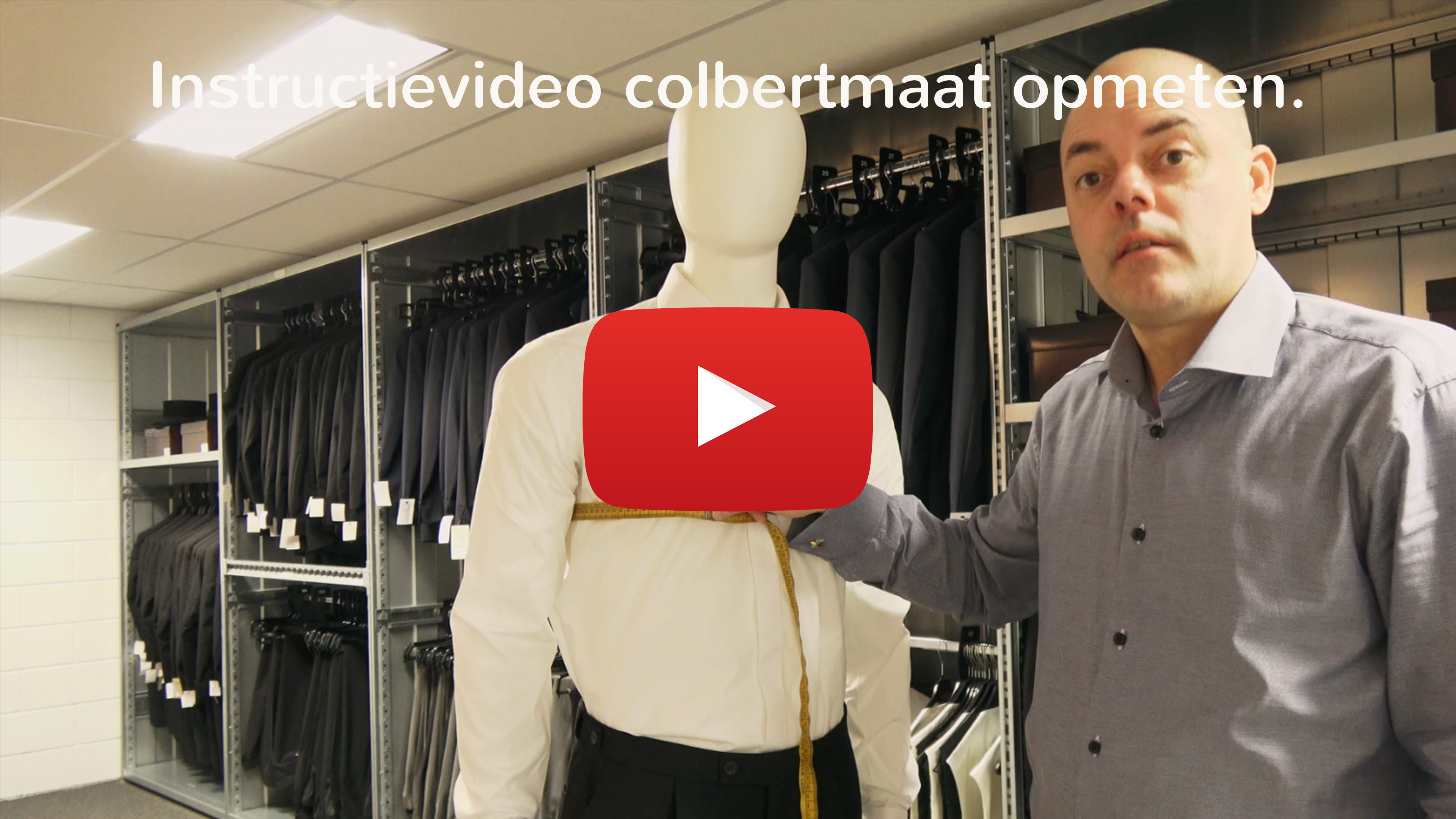 Instructievideo colbertmaat opmeten