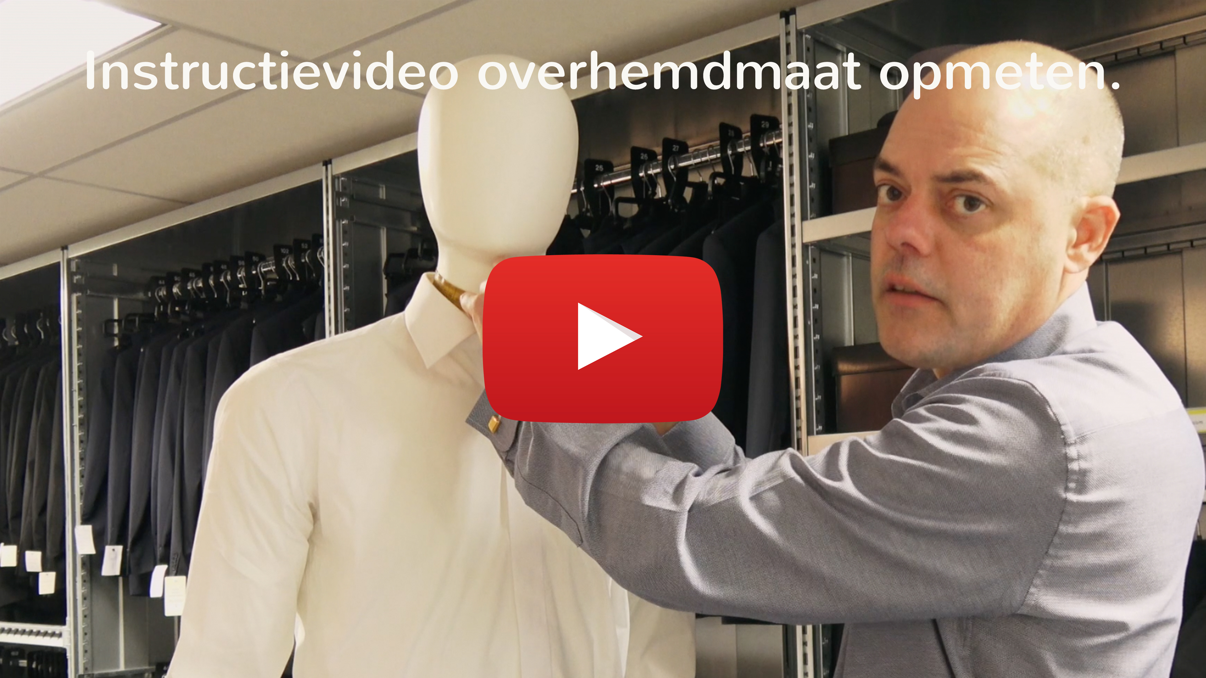 Instructievideo overhemdmaat opmeten