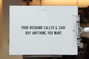 Openingstijden Yaya shop husband quote