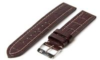 Horlogeband 20mm Chocolate Croco