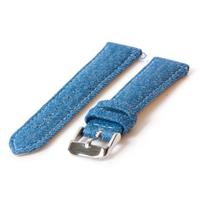 Horlogeband 24mm denim