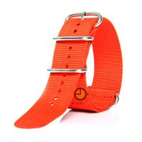 Horlogeband 24mm nylon rood