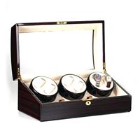 Watchwinder 6+8 horloges Ebony glans