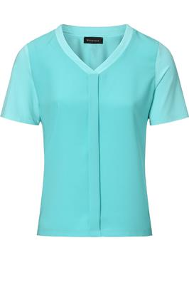 Top V-hals Turquoise