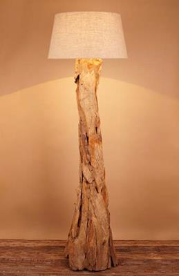 Floor lamps floorlamp driftwood natural mozeypictures Choice Image