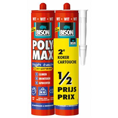 BISON PolyMax High Tack WIT duo-pack 425 gr. 2 stuks
