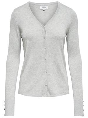 Onldina l/s cardigan Light grey melange