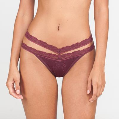 Twin Thong Burgundy