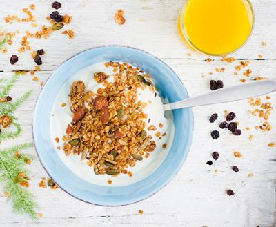 Coconut Yoghurt with Homemade Granola