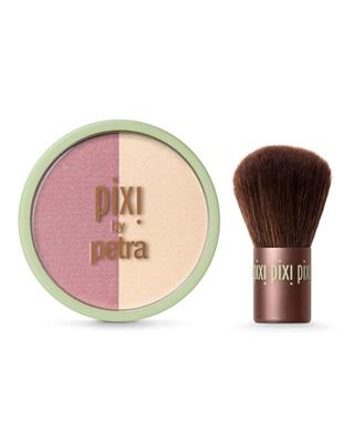 Pixi - Beauty Blush Duo + Kabuki - Rose Gold - 10 gr