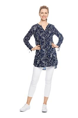 Blouse Stippen Print Donkerblauw