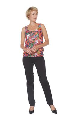 Street One Top Mouwloos Floral Rood