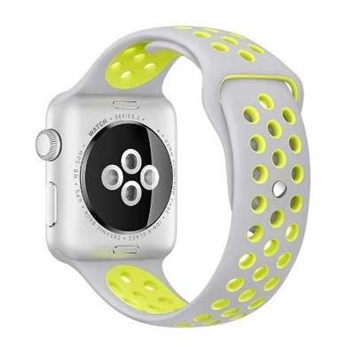 Apple watch 42mm horlogeband grijs-geel