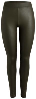Pclauren shiny colorful leggings Dark olive