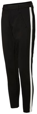 Vmvictoria mr panel ankle pants Black/White plane