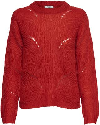 Jdydaisy ls structure pullover knt Molten lava