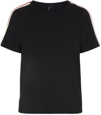 Vmkiki track s/s top Black/red