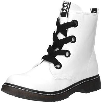 Fabs veterschoen lak white