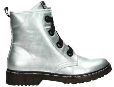 Fabs veterschoen lak Silver