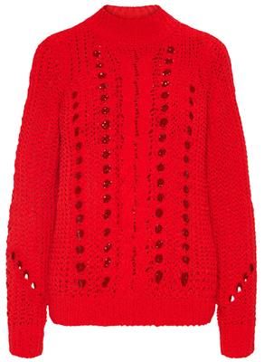 vmNila Pointelle LS highneck chinese red