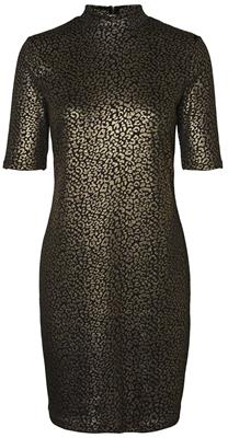 Nmmaddy 2/4 shirt dress Black/leopard