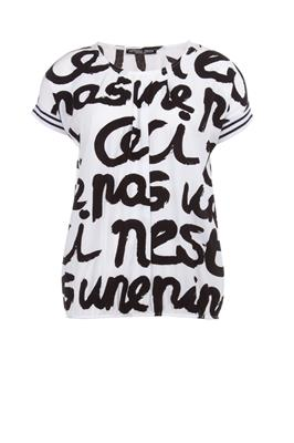 Boxy top met quoteprint