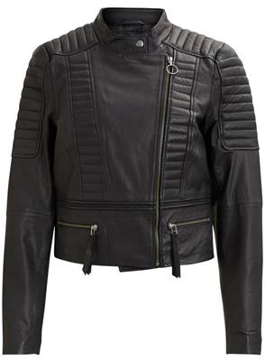 Objrake leather jacket Black