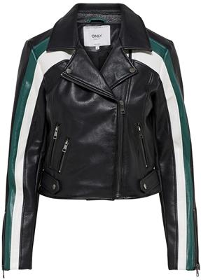 Onlsolei faux leather blocked biker