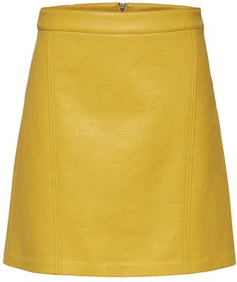 Onlallison faux leather skirt Solar power