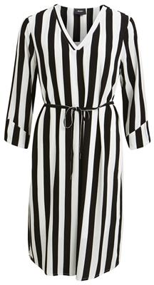 Objbay 3/4 dress seasonal Black/white stripe