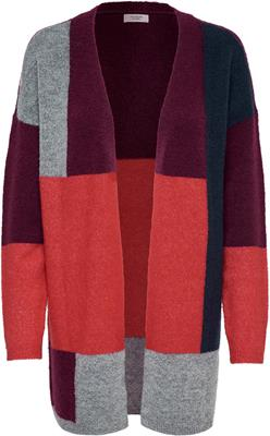 Jdyroban l/s colorblock cardigan knit rhododendron