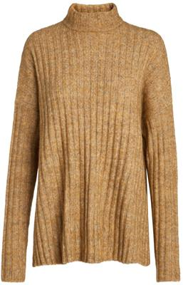 Pcsanni ls wool knit noos Nugget gold