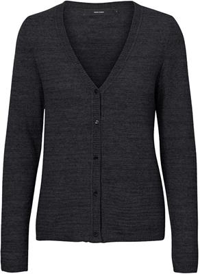 Vmdoffy structure ls v-neck cardigan Black/Melange