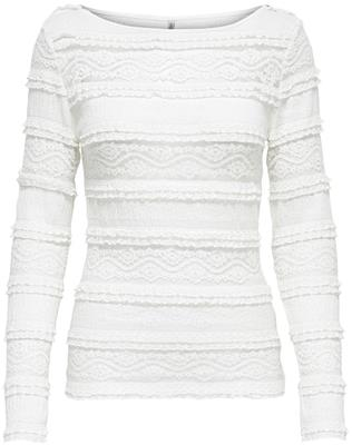 Onlmarjorie l/s boatneck top Cloud Dancer