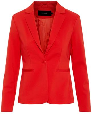 Vmvictoria ls blazer color Fiery red
